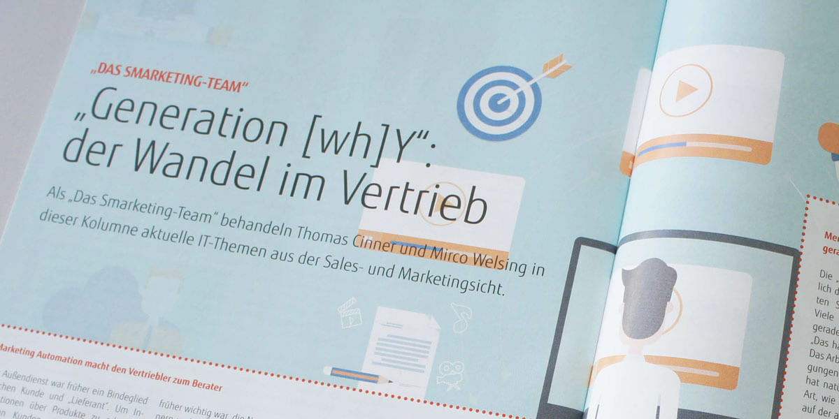 "New marketing-article in Fujitsu´s magazine ""läuft"""
